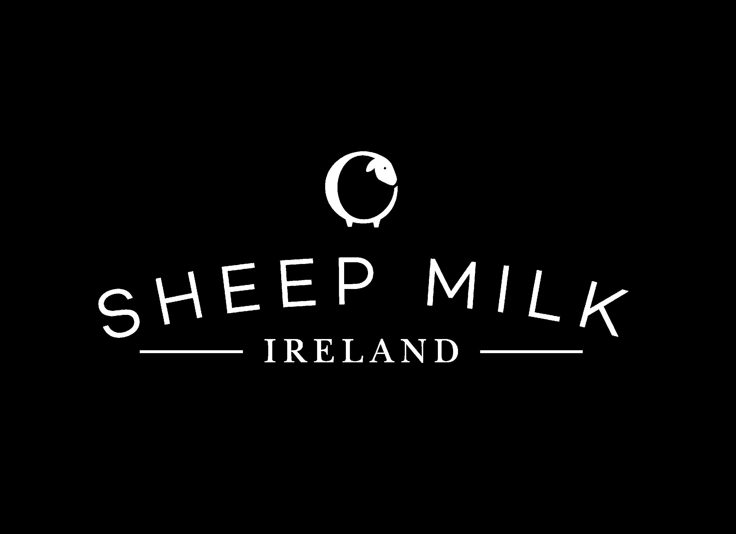 Sheep milk logo in white PNG